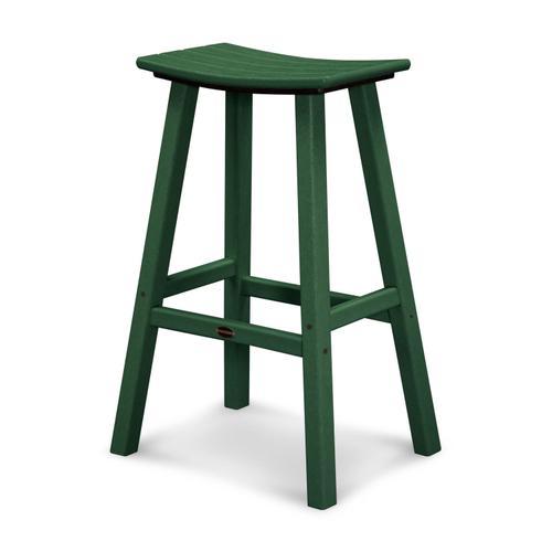 "Green Traditional 30"" Saddle Bar Stool"