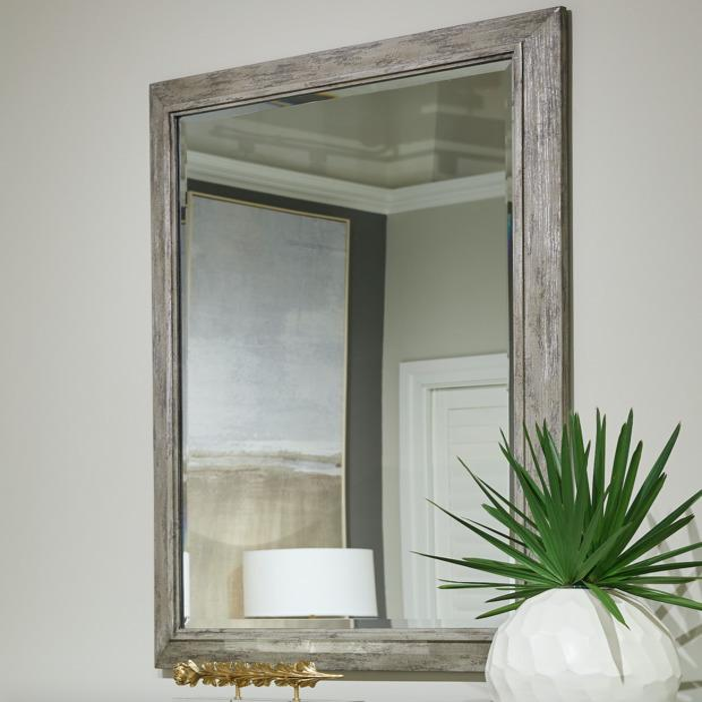Cameron Landscape Mirror - Raw Silk