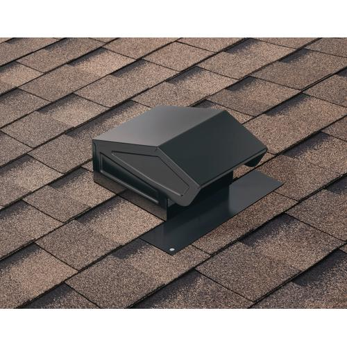 Broan-NuTone® Steel Roof Cap for 3-Inch or 4-Inch Round Duct w/ Damper & Birdscreen, Black