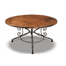 Jackson Hole Dining Table & Round Metal Base