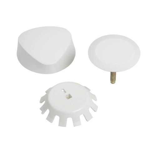 TurnControl Bath Waste and Overflow A dazzling turn Molded plastic - Alpine white Material - Finish
