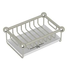 Polished Nickel Perrin & Rowe Free Standing Soap Basket