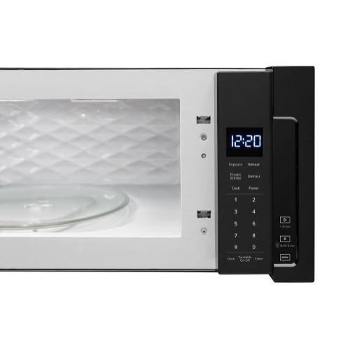 Whirlpool 1.1CF Black Low Profile Microwave Hood Combination