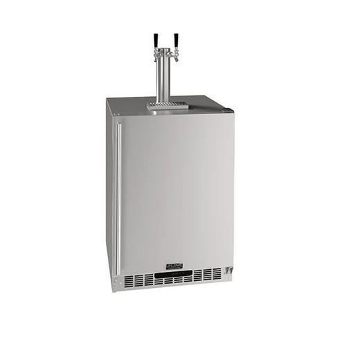 "24"" 2 Tap Beer Dispenser With Stainless Solid Finish (230 V/50 Hz Volts /50 Hz Hz)"