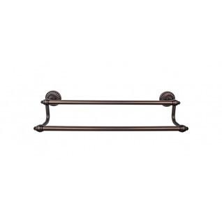 Tuscany Bath Towel Bar 24 Inch Double - Oil Rubbed Bronze