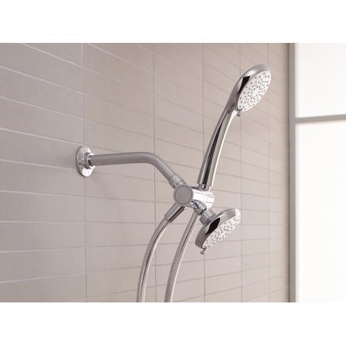 """Vibrant Brushed Moderne Brass Shower Arm and Flange,7-1/2"""" Long"""