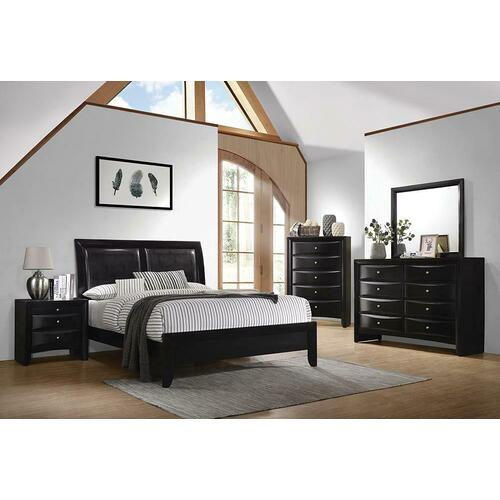 200701kws5 In By Coaster In Jennings La Briana Black California King Five Piece Bedroom Set