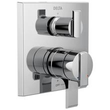 See Details - Chrome Angular Modern Monitor ® 17 Series Valve Trim with 3-Setting Integrated Diverter