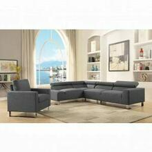ACME Horace Sectional Sofa - 52890 - Gray Linen