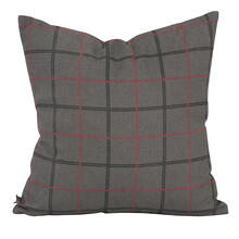 "20"" x 20"" Pillow Oxford Charcoal - Poly Insert"