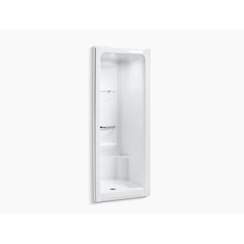"""White 36"""" X 36-1/2"""" X 90"""" Center Drain Shower Stall With Integral High-dome Ceiling, Requires Grab Bar"""