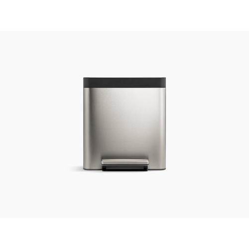 Stainless Steel 8-gallon Compact Stainless Steel Step Can
