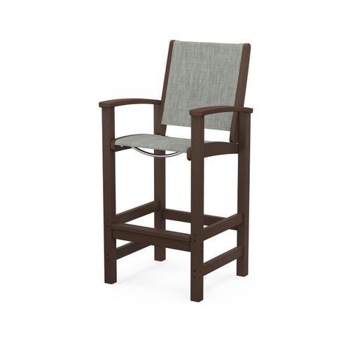 Polywood Furnishings - Coastal Bar Chair in Mahogany / Birch Sling