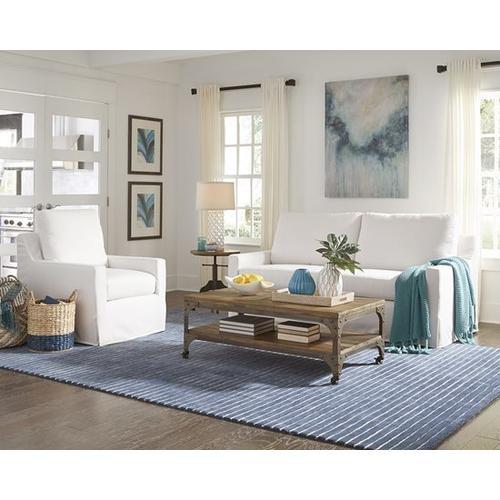 Gallery - Slip Covered Sofa - Ivory Finish
