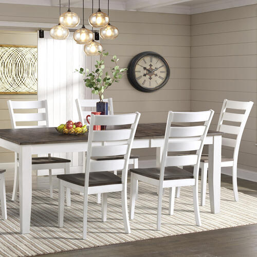 Kona Dining Table  Gray and White
