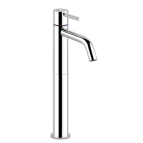 """Gessi - Tall single lever washbasin mixer without pop-up assembly Spout projection 5"""" Height 13-5/16"""" Drain not included - See DRAI NS section Max flow rate 1"""