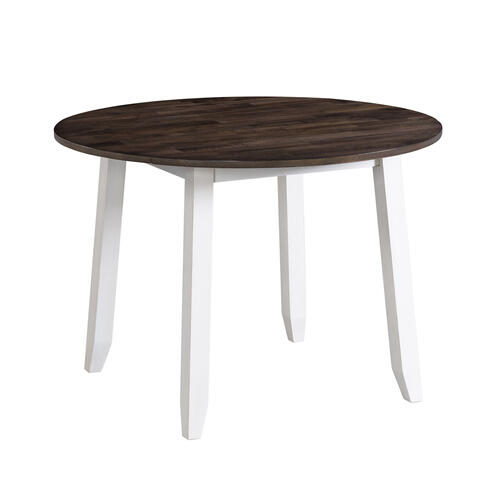 Kona Drop Leaf Table  Gray and White