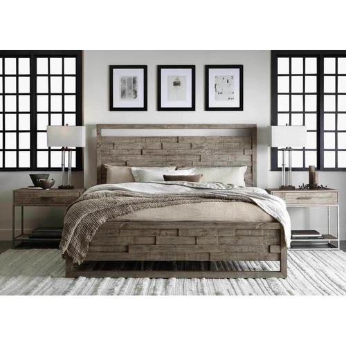 Queen-Sized Shaw Panel Bed in Morel