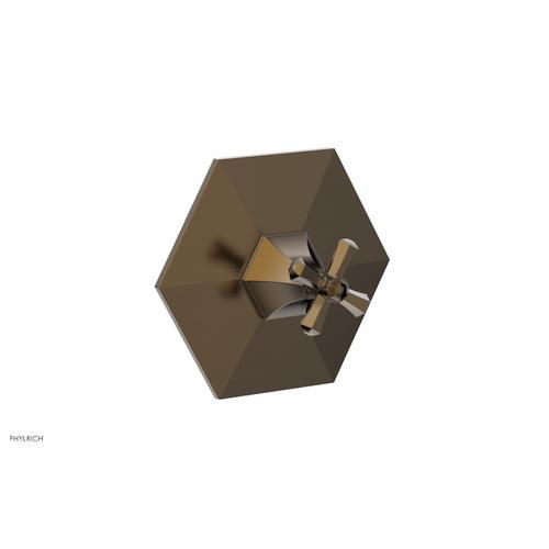 Phylrich - LE VERRE & LA CROSSE Thermostatic Shower Trim - Cross Handle TH171 - Antique Brass
