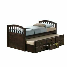 ACME San Marino Twin Captain Bed & Trundle - 04990 - Dark Walnut