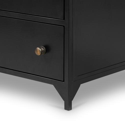 Black Finish Belmont 8 Drawer Metal Dresser