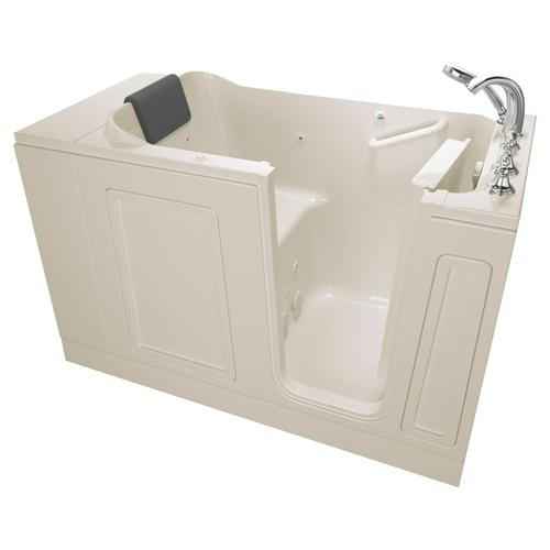 Acrylic Luxury Series 30x51 Walk-in Tub with Whirlpool System Right Drain  American Standard - Linen