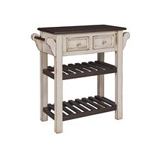 Console w/ Towel Bars - Cream/Dark Chocolate Finish