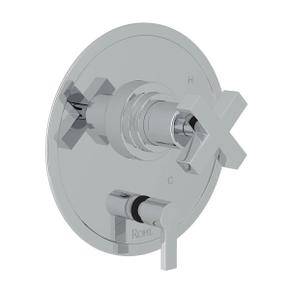 Lombardia Pressure Balance Trim with Diverter - Polished Chrome with Cross Handle