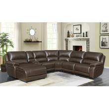 See Details - Mackenzie Casual Chestnut Motion Sectional