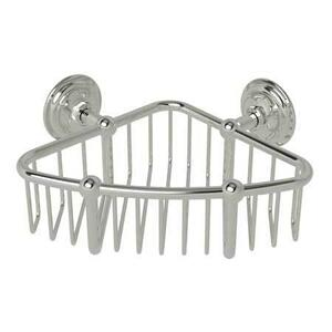 "Satin Nickel 6"" Corner Basket"
