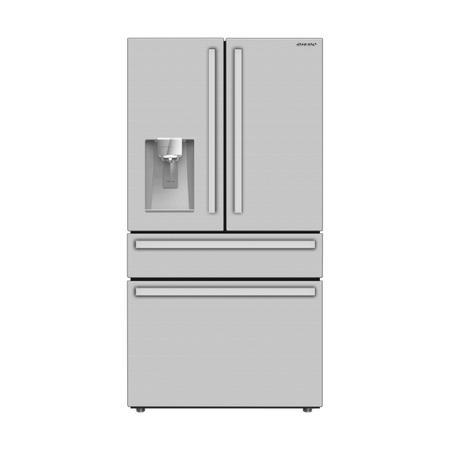Sharp French 4-Door Counter-Depth Refrigerator with Water Dispenser