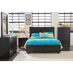 6/6 King Panel Bed - Black Finish