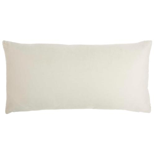"Luminescence Et139 White 12"" X 24"" Throw Pillow"