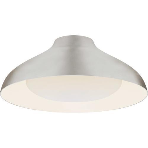 AERIN Agnes LED 18 inch Burnished Silver Leaf Flush Mount Ceiling Light