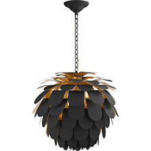 View Product - E. F. Chapman Cynara 1 Light 29 inch Matte Black Chandelier Ceiling Light, Large