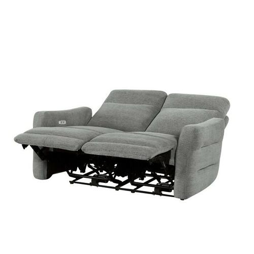 Homelegance - Power Double Lay Flat Reclining Love Seat with Power Headrests and USB Ports