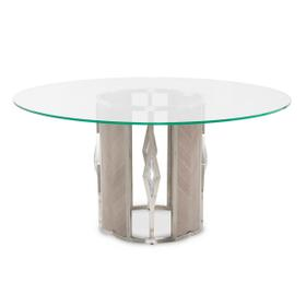 Round 60 Glass Dining Table (2 Pc)