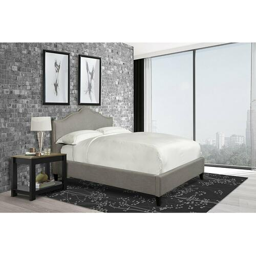 Parker House - JAMIE - FALSTAFF Queen Bed 5/0 (Grey)