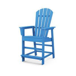Polywood Furnishings - South Beach Counter Chair in Pacific Blue