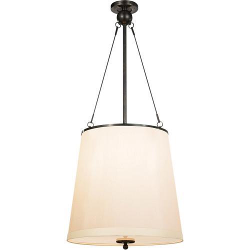 Visual Comfort - Barbara Barry Westport 3 Light 18 inch Bronze Hanging Shade Ceiling Light