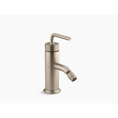 Vibrant Brushed Bronze Horizontal Swivel Spray Aerator Bidet Faucet With Straight Lever Handle
