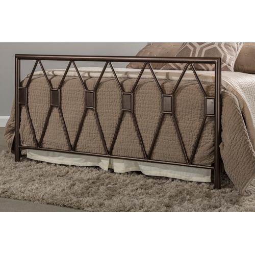 Tripoli Full Bed Set Without Rails (black Pewter)