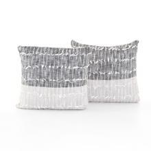 "Sariah Pillow, Set of 2-20""-black/grey"
