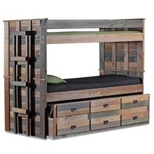 Full/Full Bunk Bed w/Trundle Unit