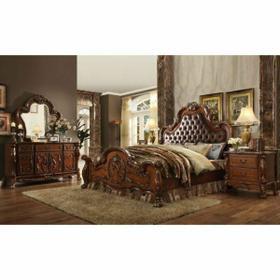 ACME Dresden Queen Bed - 23140Q - PU & Cherry Oak