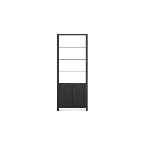 BDI Furniture - Linea 5802 Double Shelf in Charcoal Stained Ash