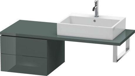 Low Cabinet For Console, Dolomiti Gray High Gloss (lacquer)