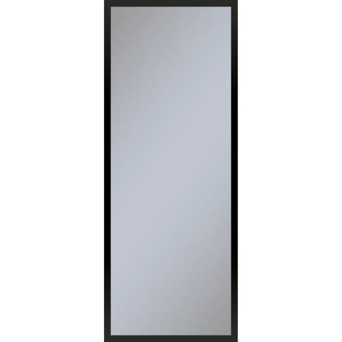 """Profiles 15-1/4"""" X 39-3/8"""" X 4"""" Framed Cabinet In Matte Black With Electrical Outlet, Usb Charging Ports, Magnetic Storage Strip and Right Hinge"""