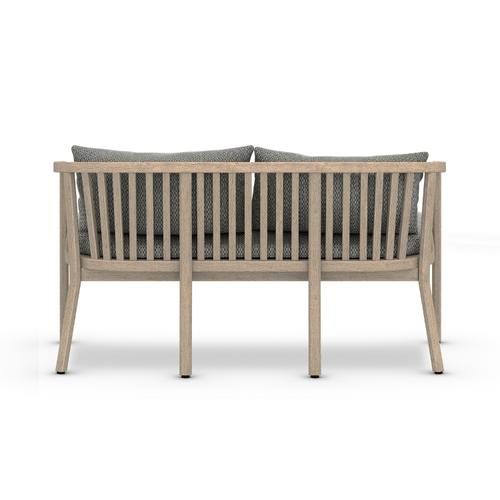 Faye Ash Cover Tate Outdoor Bench, Washed Brown