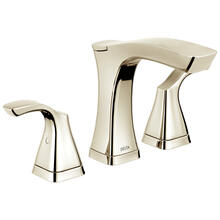 Polished Nickel Two Handle Widespread Bathroom Faucet - Metal Pop-Up